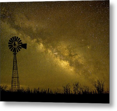 Texas Panhandle Milky Way Metal Print