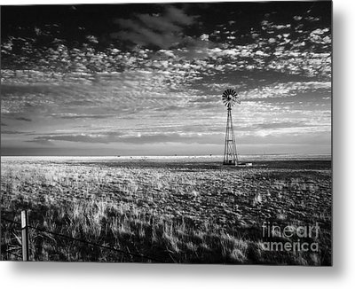 Texas Plains Windmill Metal Print