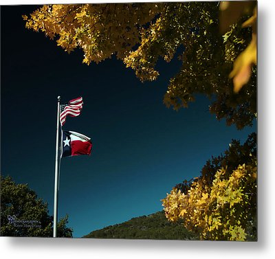 Metal Print featuring the pyrography Texas Pride by Karen Musick