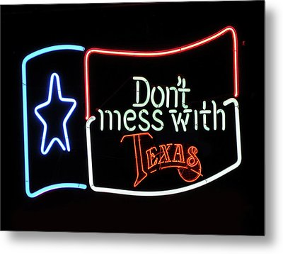 Metal Print featuring the photograph Texas Flag Saloon Neon by Daniel Hagerman