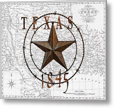 Texas Statehood 1845 Metal Print by Daniel Hagerman