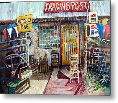 Texas Store Front Metal Print