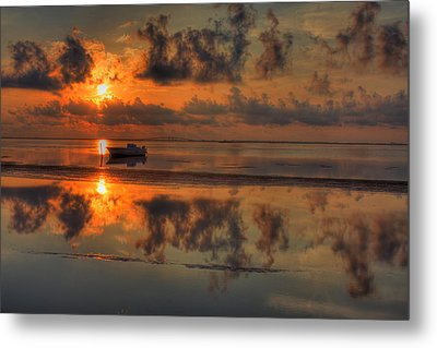Texas Sunset Gulf Of Mexico Metal Print by Kevin Hill