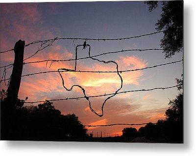 Texas Sunset Metal Print by Robert Anschutz