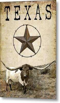 Texas Tough Metal Print