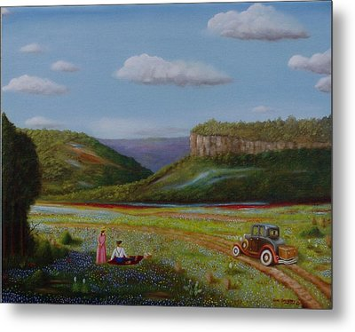 Metal Print featuring the painting Texas Travelers Giclee by Gene Gregory