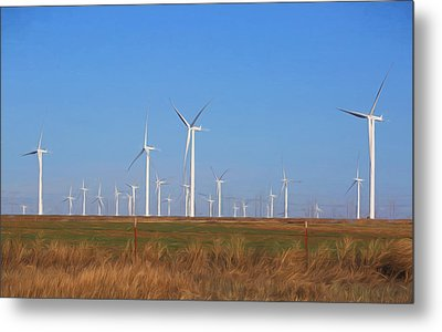 Texas Wind Farm Metal Print