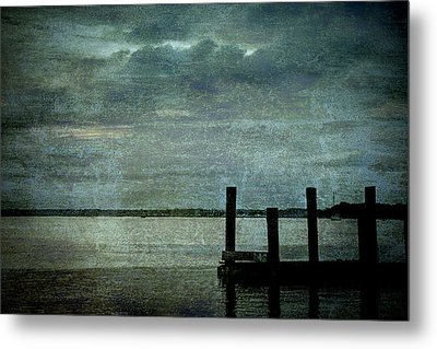 Textured Sunset Metal Print by Dave Bosse