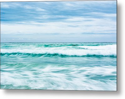 Textures In The Waves Metal Print by Shelby  Young