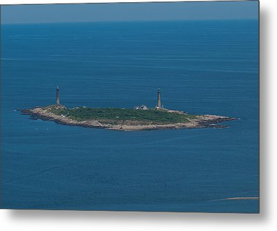 Metal Print featuring the photograph Thacher Island Lights by Joshua House