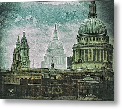 Thamesscape 2 -  Ghosts Of London Metal Print