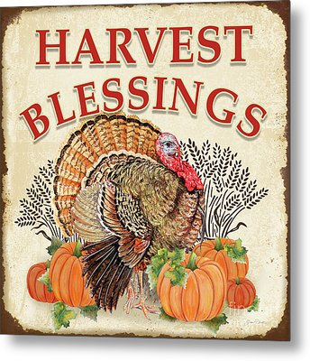 Metal Print featuring the painting Thanksgiving-e by Jean Plout