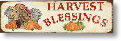 Metal Print featuring the painting Thanksgiving-f by Jean Plout