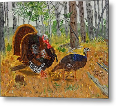 Thanksgiving Turkey Metal Print