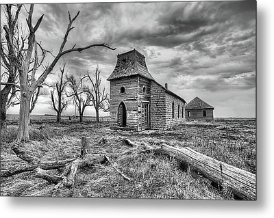 Metal Print featuring the photograph That Old Time Religion Black And White by JC Findley
