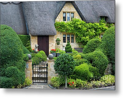 Metal Print featuring the photograph Thatch Roof Cottage Home by Brian Jannsen