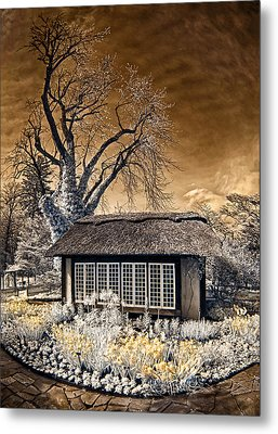 Metal Print featuring the photograph Thatched Cottage by Steve Zimic