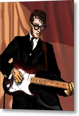That'll Be The Day- Buddy Holly Metal Print