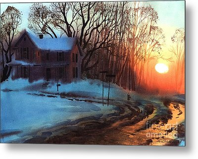 Metal Print featuring the painting Thaw by Sergey Zhiboedov