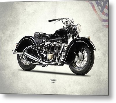 The 1947 Chief Metal Print by Mark Rogan