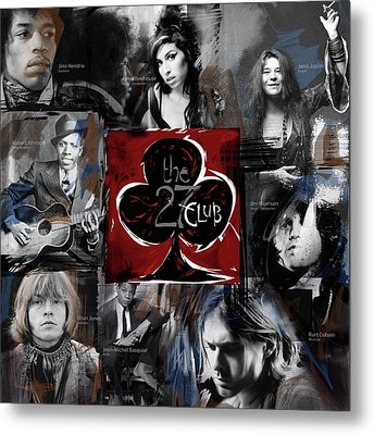 The 27 Club Metal Print by Russell Pierce