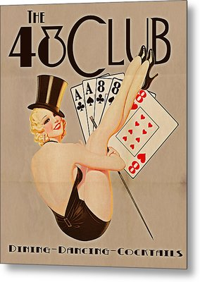 The 48 Club Metal Print by Cinema Photography