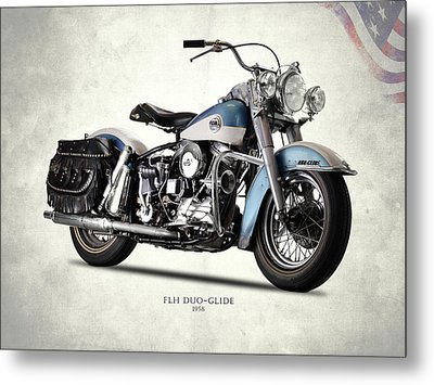 The 58 Harley Flh Metal Print by Mark Rogan