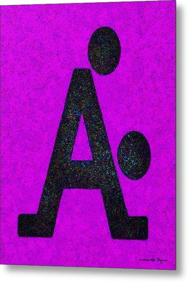The A With Style Purple - Da Metal Print