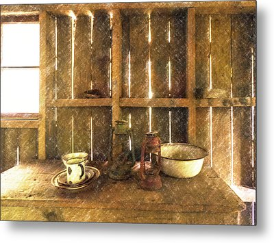 The Abandoned Cabin Metal Print