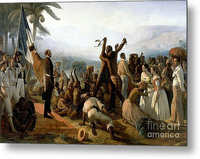 The Abolition Of Slavery In The French Colonies  Metal Print