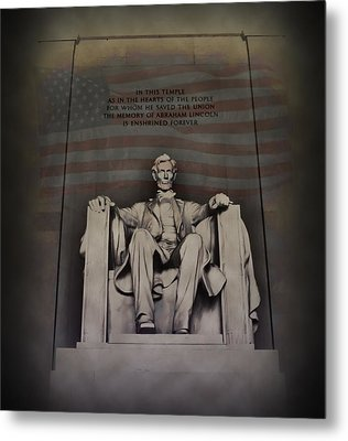 The Abraham Lincoln Memorial Metal Print by Bill Cannon