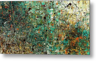 Metal Print featuring the painting The Abstract Concept by Carmen Guedez