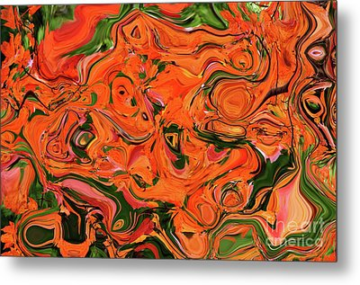 The Abstract Days Of Autumn Metal Print by Andee Design