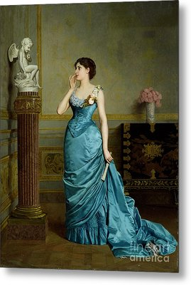 The Accomplice Metal Print by Auguste Maurice Cabuzel