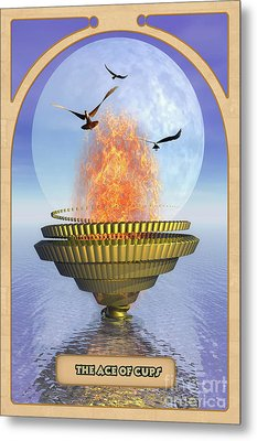 The Ace Of Cups Metal Print by John Edwards