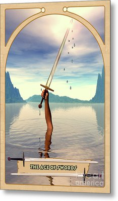 The Ace Of Swords Metal Print by John Edwards