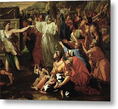 The Adoration Of The Golden Calf Metal Print by Nicolas Poussin