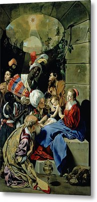 The Adoration Of The Kings Metal Print by Fray Juan Batista Maino