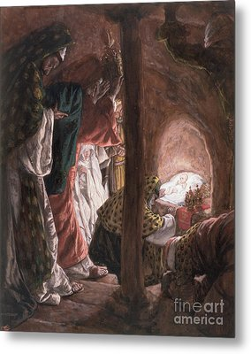 The Adoration Of The Wise Men Metal Print by Tissot