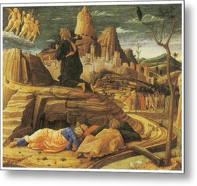 The Agony In The Garden Metal Print by Andrea Mantegna