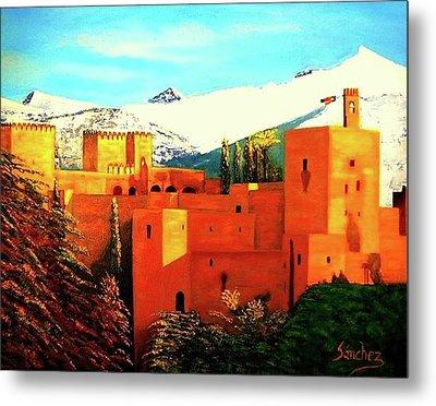 The Alhambra Of Granada Metal Print by Manuel Sanchez