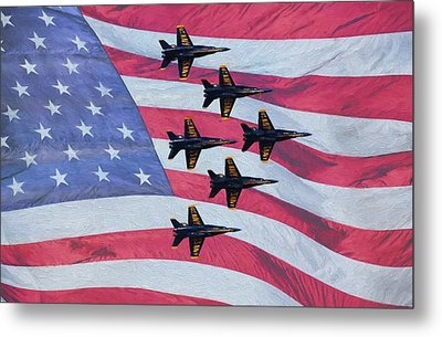 The All American Team Metal Print by JC Findley