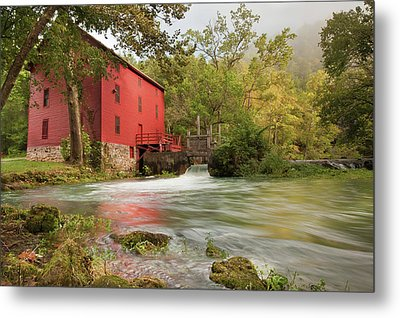 The Alley Spring Mill - Missouri Metal Print by Gregory Ballos