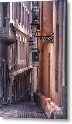 The Alleyways Of San Juan Metal Print by Mary Lou Chmura