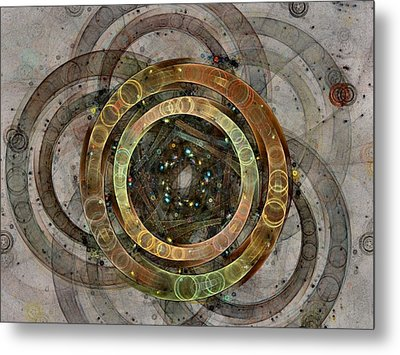 The Almagest - Homage To Ptolemy - Fractal Art Metal Print