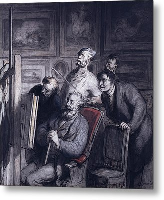 The Amateurs Metal Print by Honore Daumier