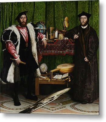 The Ambassadors Metal Print by Hans Holbein the Younger