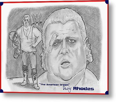 The American Dream Dusty Rhodes Metal Print by Chris  DelVecchio