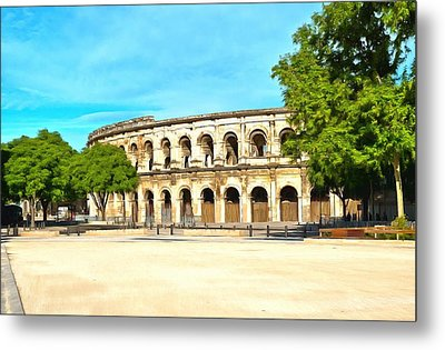 The Amphitheatre Nimes Metal Print by Scott Carruthers