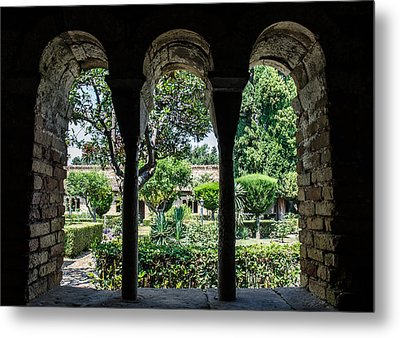 The Ancient Cloister Metal Print
